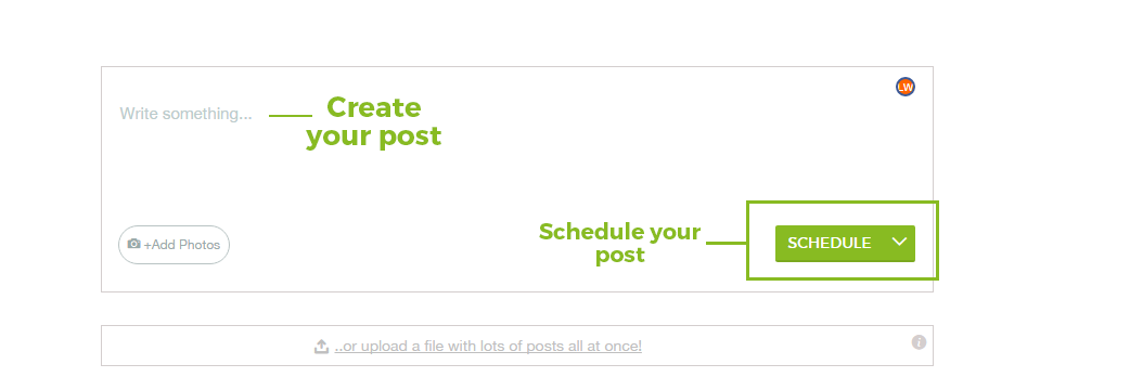 Create and Schedule posts on Postcron - event scheduling app