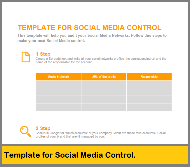 Template for Social Media Control