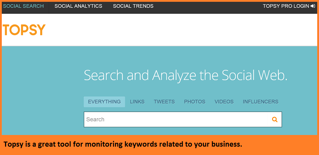 how to manage your twitter with Topsy