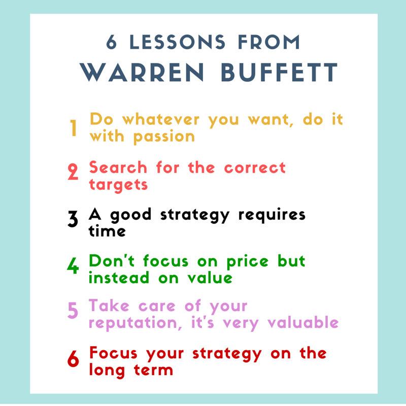 6 lessons from Warren Buffett