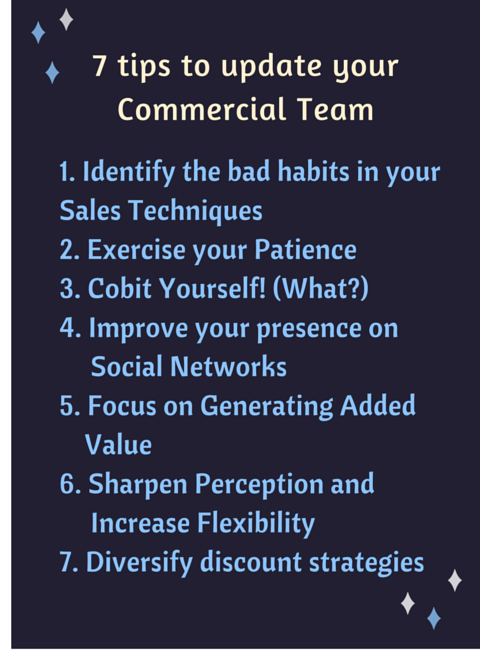 7 tips to update your Commercial team