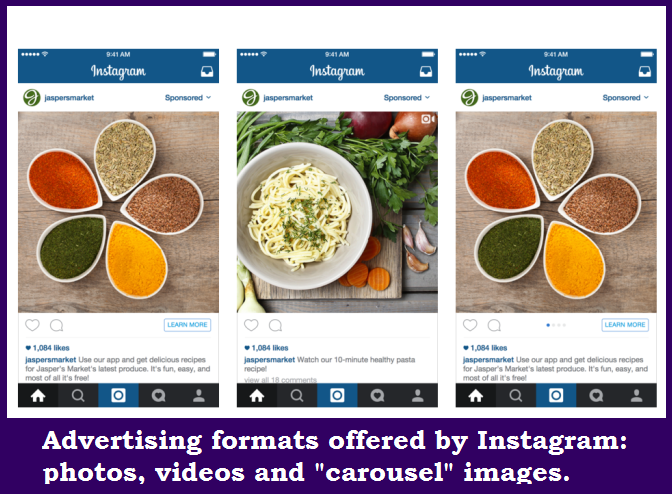 Instagram for Business advertising formats
