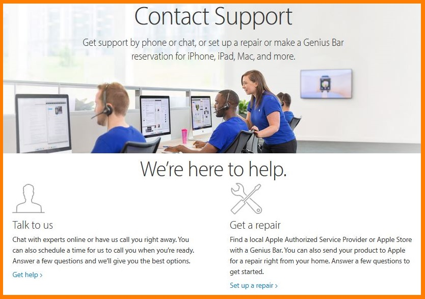 apple talk to us calls to action