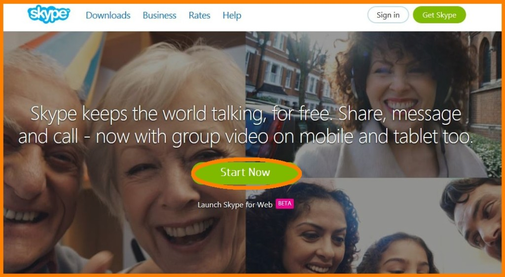 skype start now calls to action