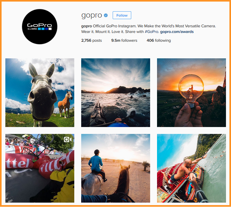 visual content gopro instagram account