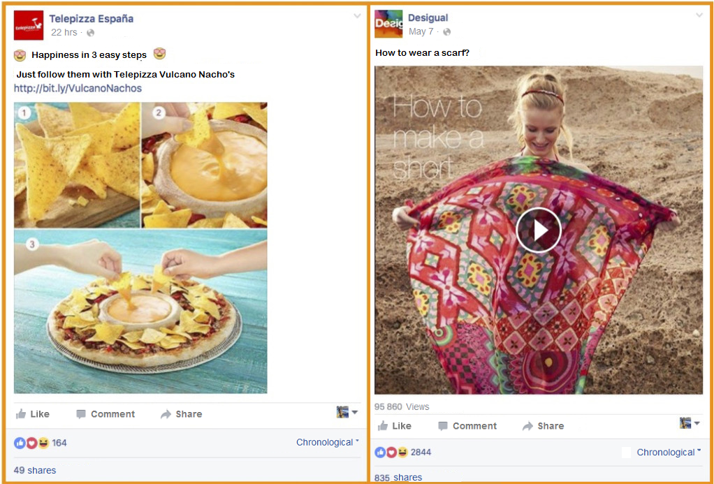 visual content facebook advertising