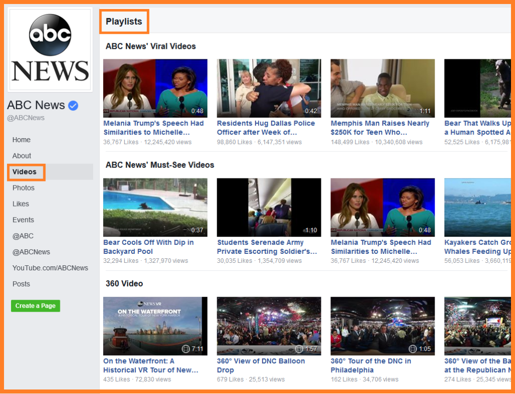 facebook videos abcnews playlist