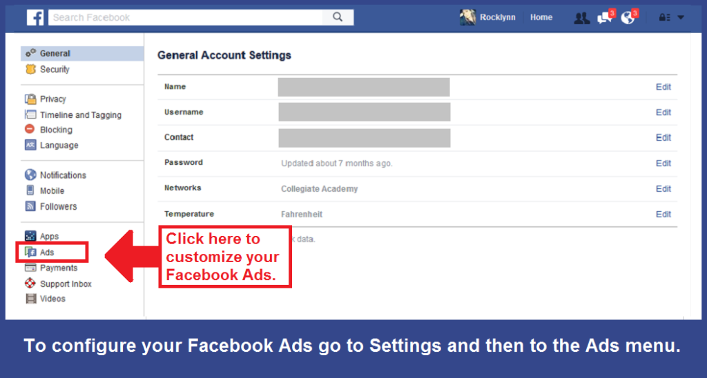 facebook ads setting ads