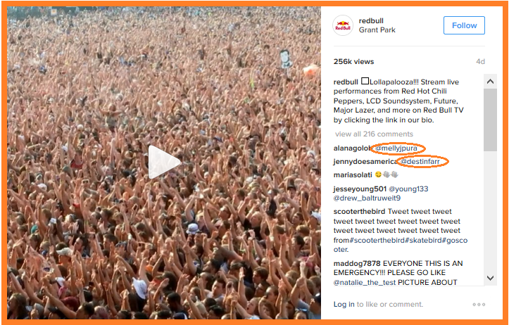 social engagement redbull video
