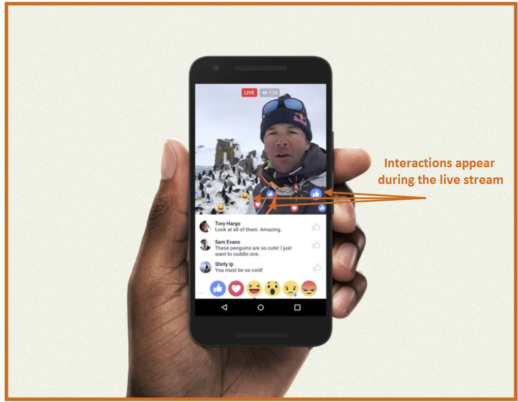 Facebook Live live interactions