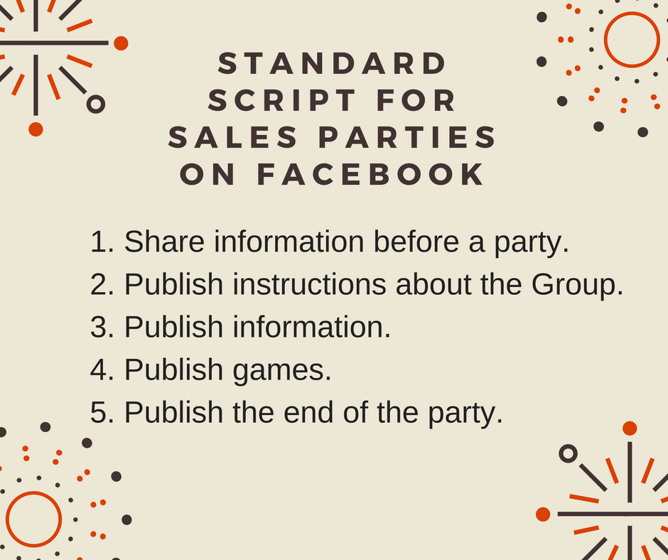 How to Host a Facebook Party - Standard Script for Sales Parties On Facebook