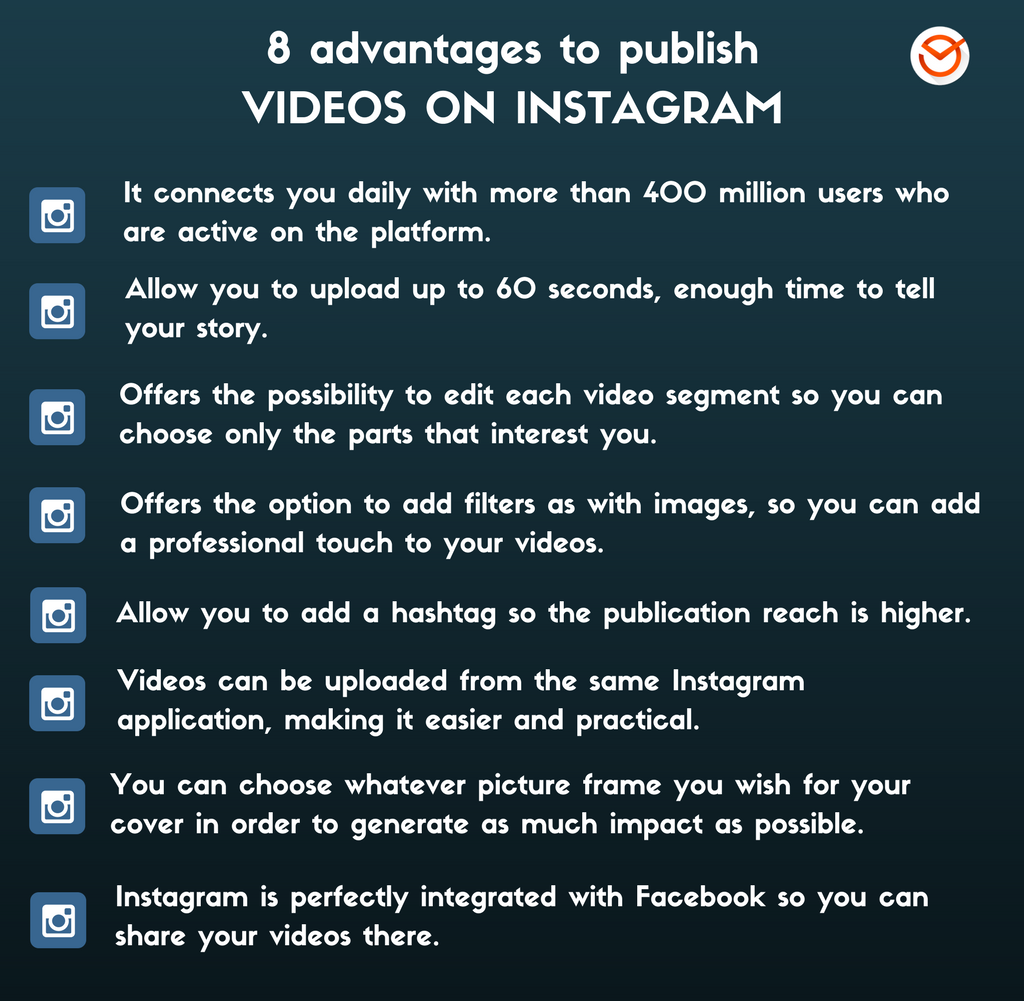 8 Advantages To Publish Videos On Instagram