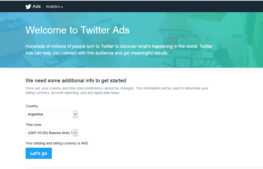 how to create twitter account for website