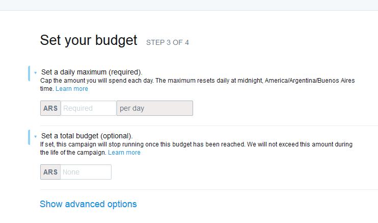 set your budget