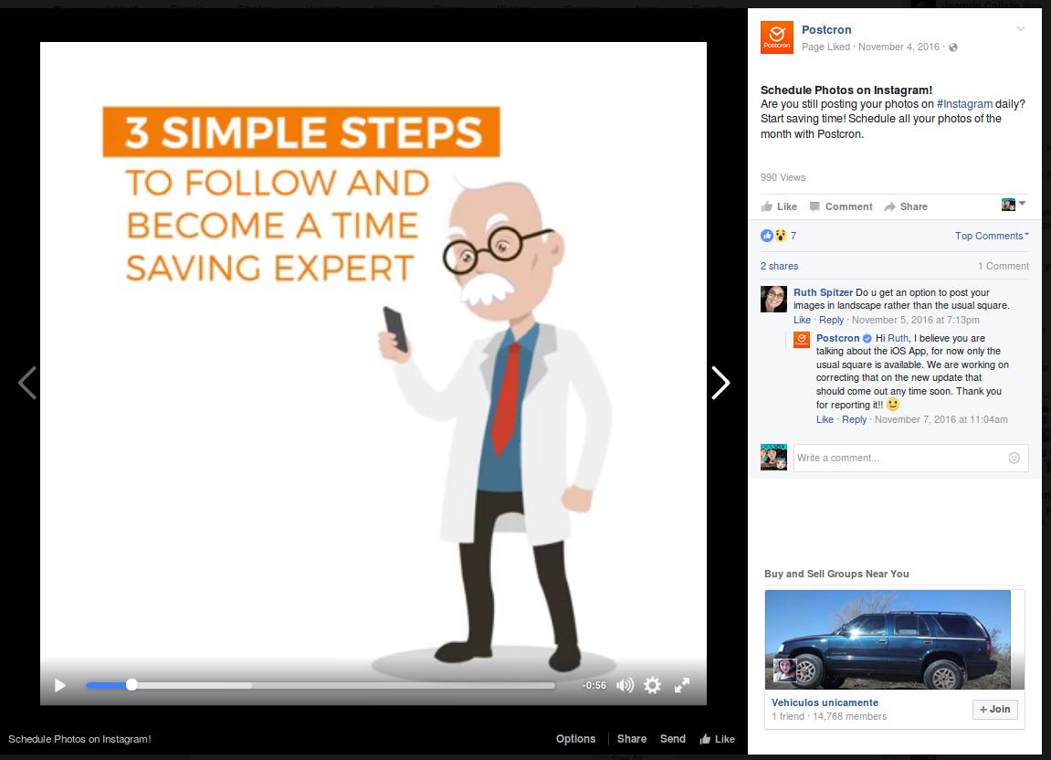 example videos on facebook