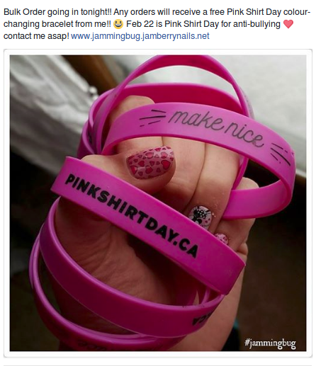 Post from one of Jamberry's resellers