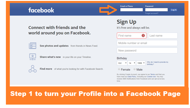 How to Convert Your Profile into Fan Page? Step-By-Step Tutorial