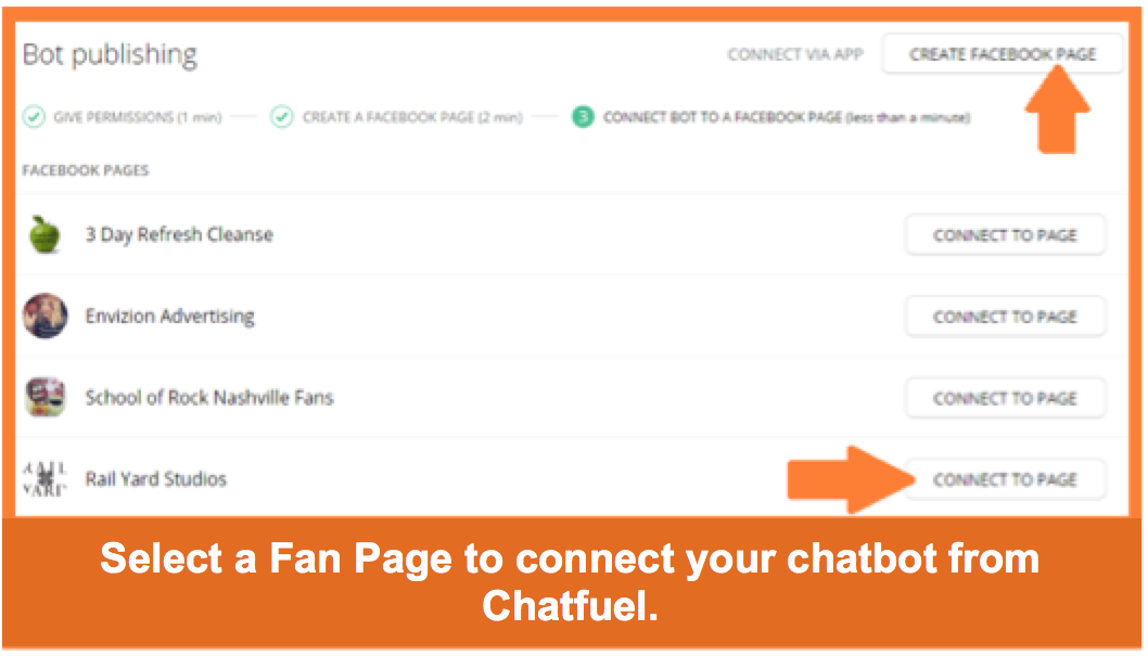 chatbot page settings