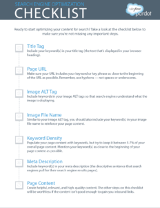 Checklist of SEO tips to help increase website traffic