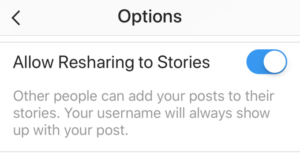 Share Instagram posts using Instagram stories