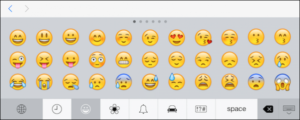 emojis keyboard on iOS