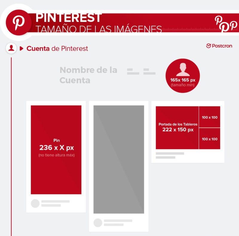 Pinterest tamaños de imágenes - Postcron
