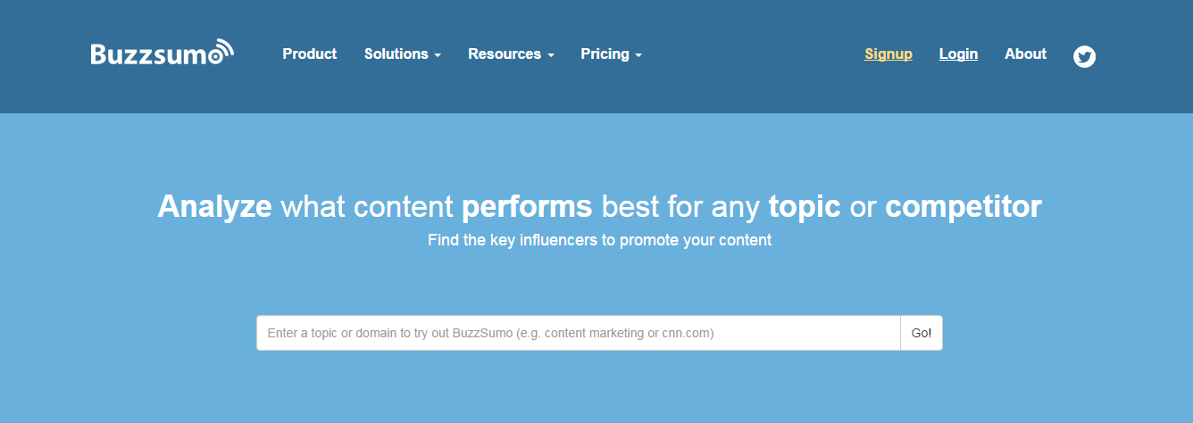 Buzzsumo is a tool for finding the best content and influencers in social media