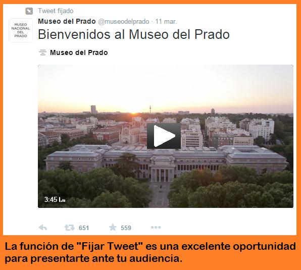 Fijar un tuit en tus campañas en Twitter
