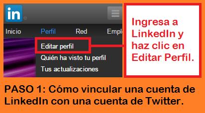 Funciones de Facebook, Twitter y LinkedIn