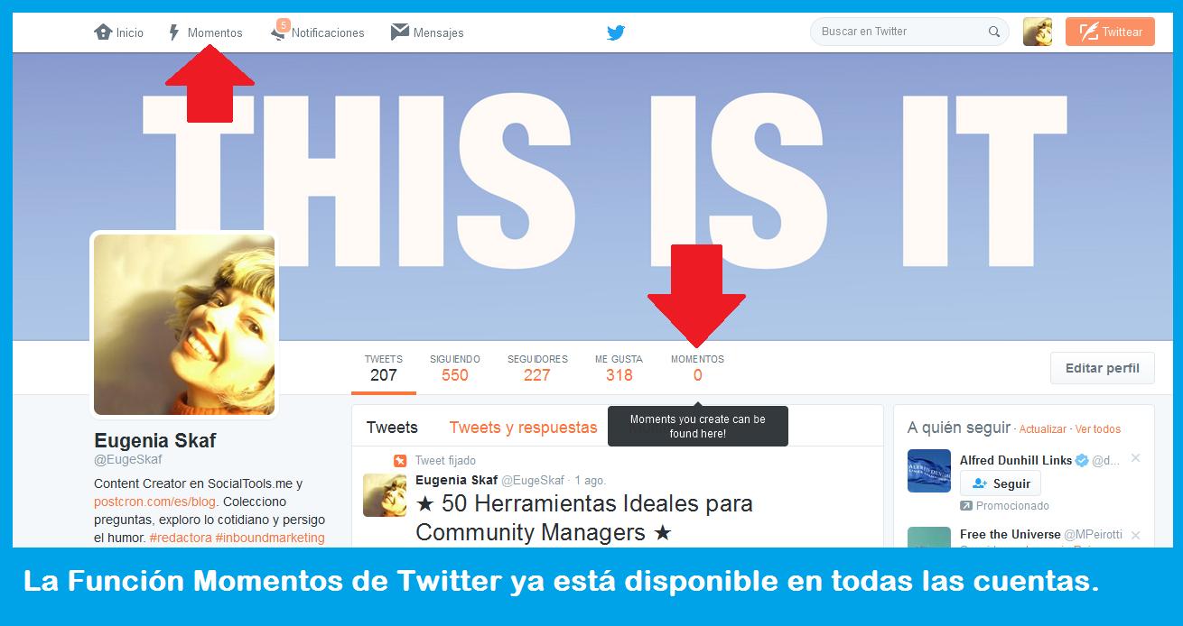 Cómo utilizar la función Momentos de Twitter