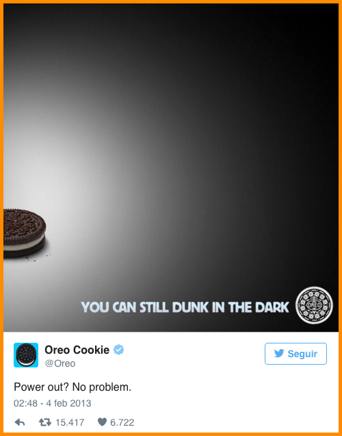 FAcebook organic reach Oreo superbowl ad