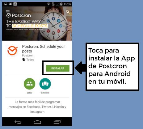 App-de-Postcron-para-Android