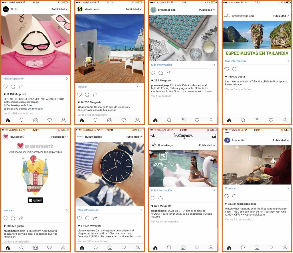 Ejemplos de Publicidad en Instagram