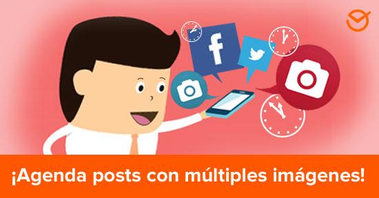 ¿Cómo Agendar Posts con Varias Fotos o Carrusel de Imágenes, en Facebook y Twitter?
