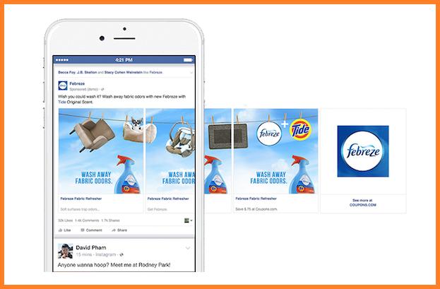 continuidad en el carrusel de imagenes de Facebook
