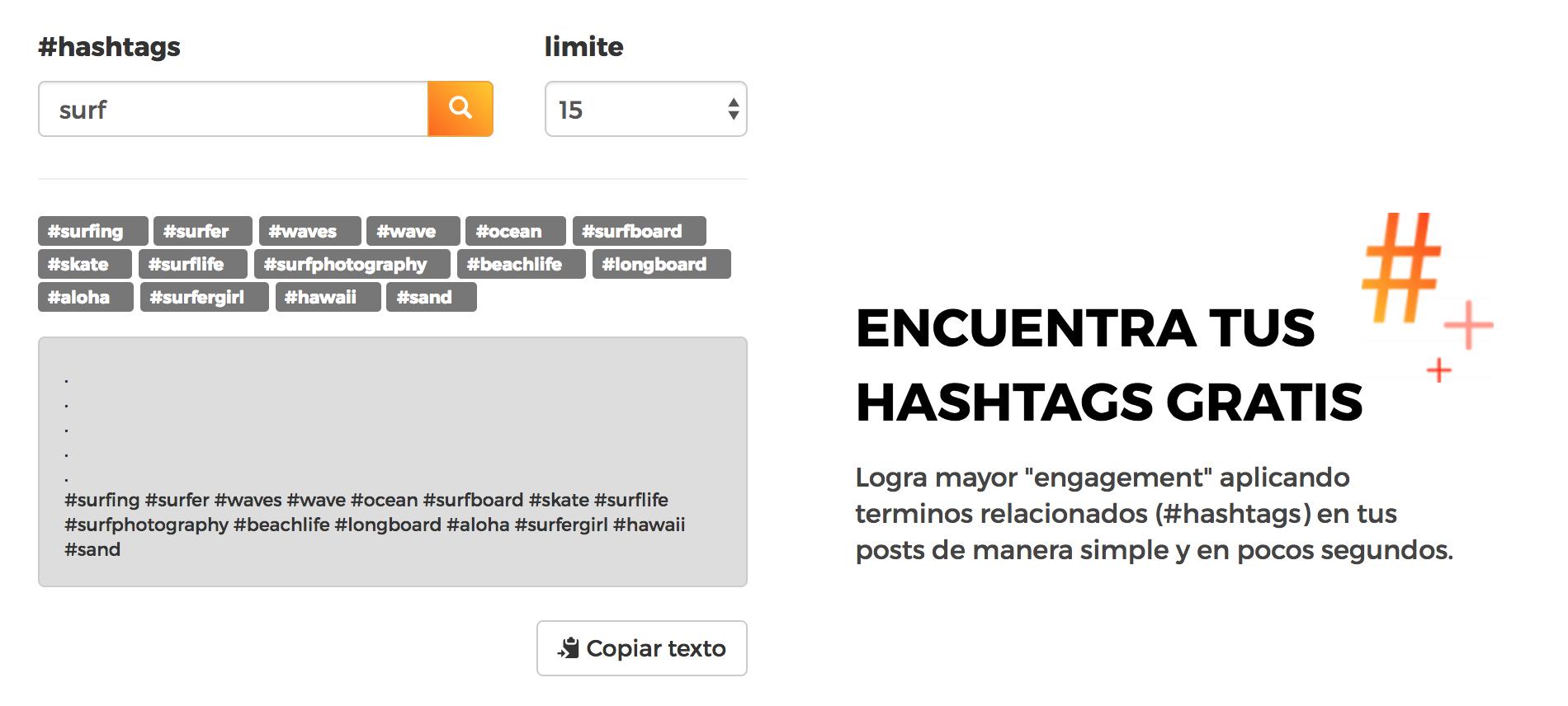 Buscador de hashtags