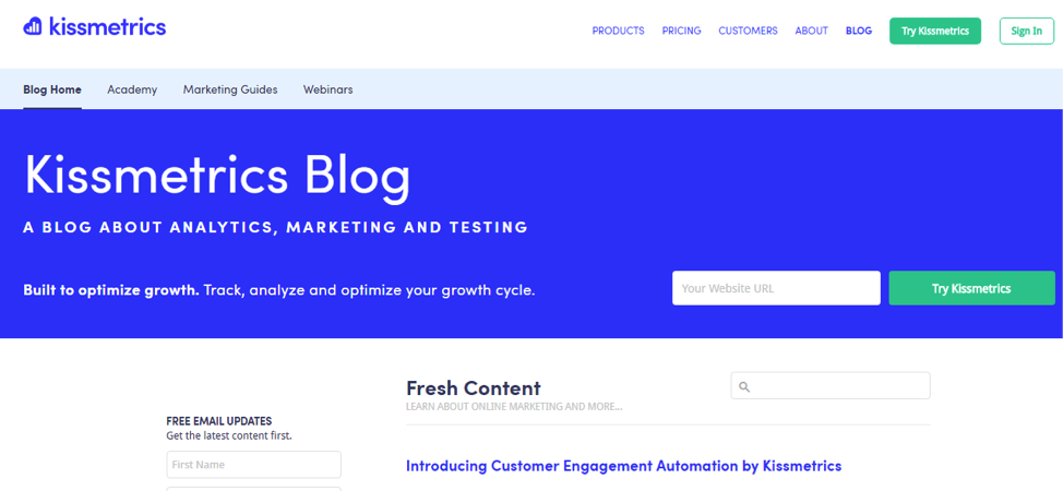 Blog Kissmetrics