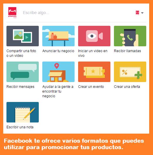 Formatos de post en Facebook