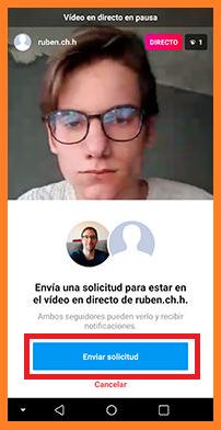 Invitan a un amigo a tus videos en directo en instagram