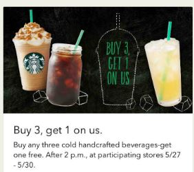 starbucks-buy-3-get-one-free