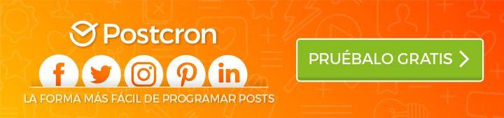 Postcron - Programa tus Posts en tus Redes Sociales