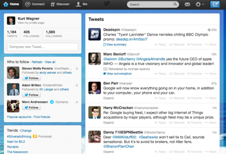 OLD TWITTER HOMEPAGE