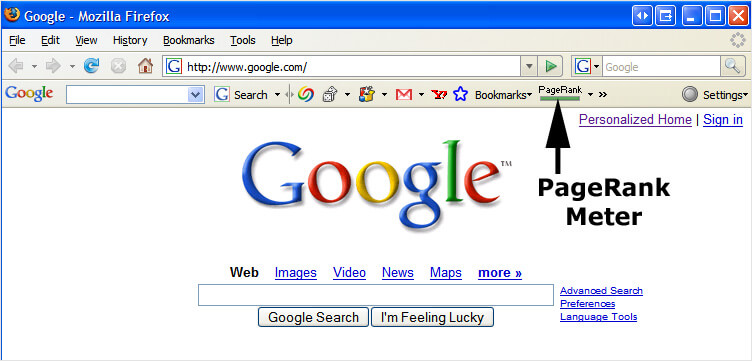 Google pagerank First version