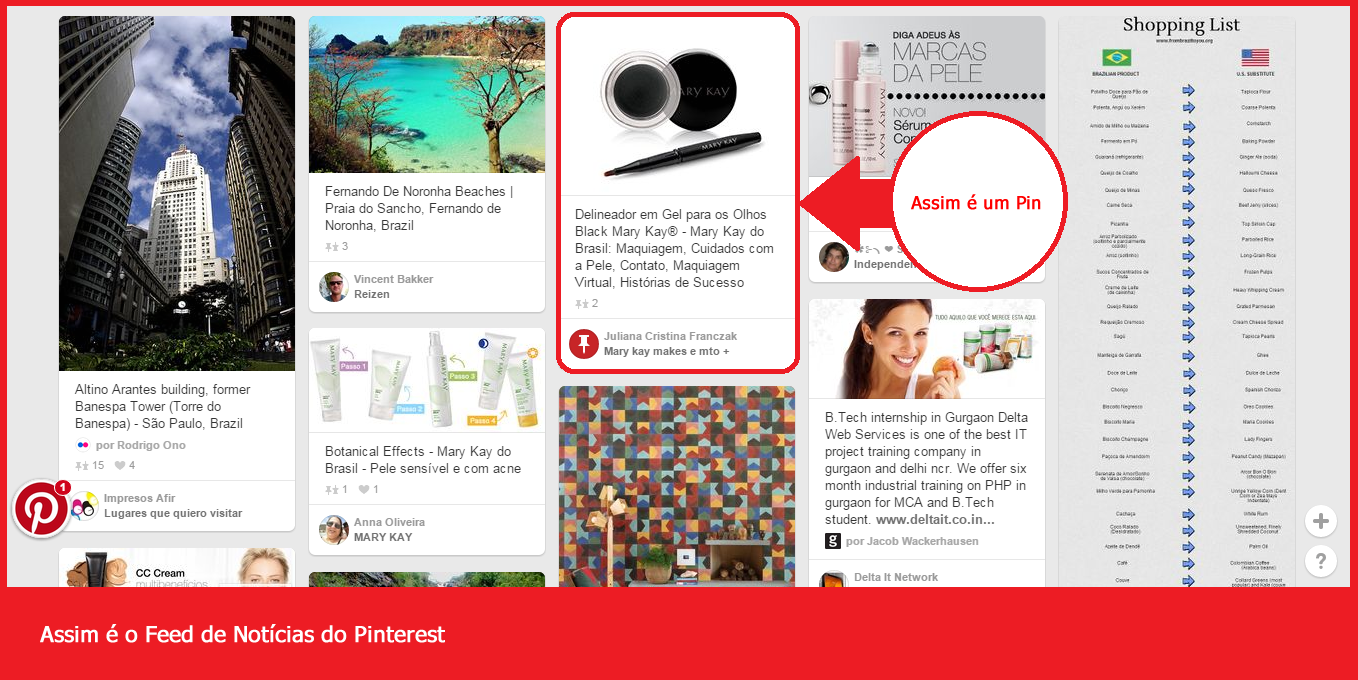 feed de noticias - publicar no Pinterest