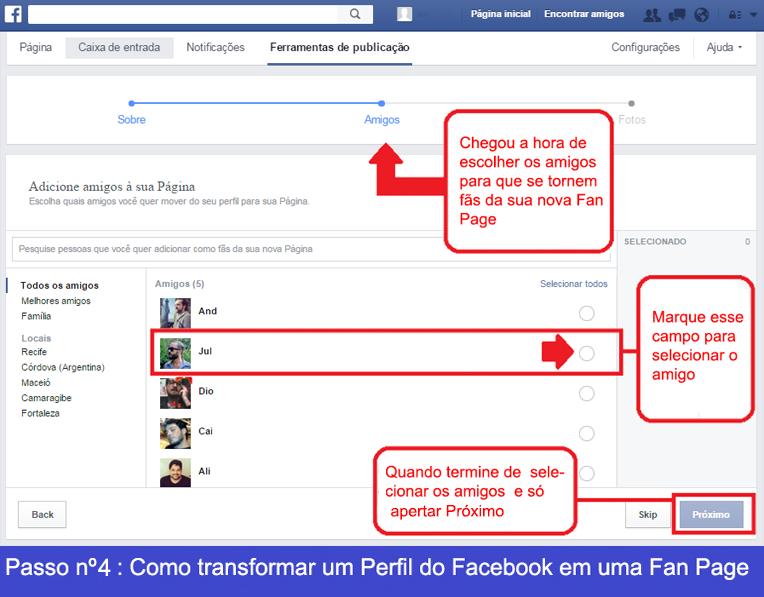 Como transformar um perfil de Facebook em uma Fan Page 4