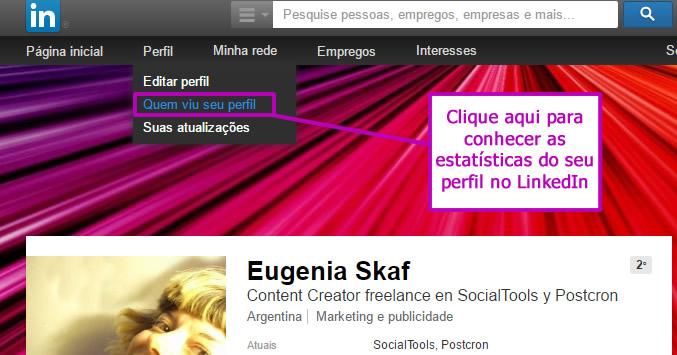 social statistics of networks - of linkedin profile