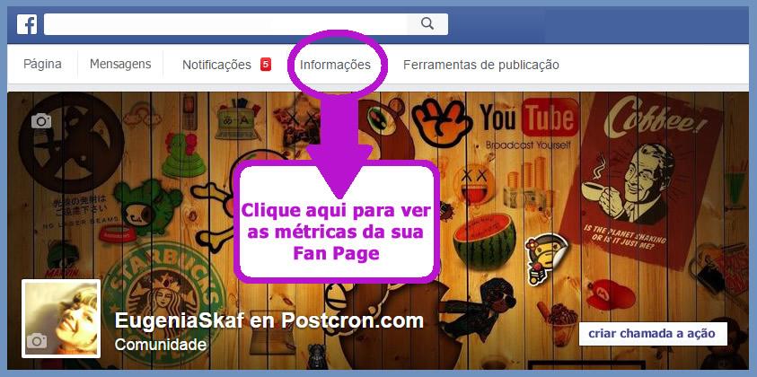 User statistics social networks - facebook insights