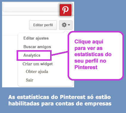 User statistics social networks - pinterest