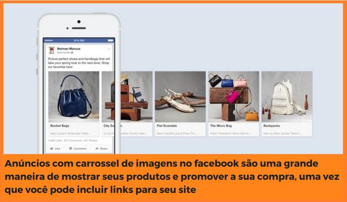 example carrousel de imagens no facebook