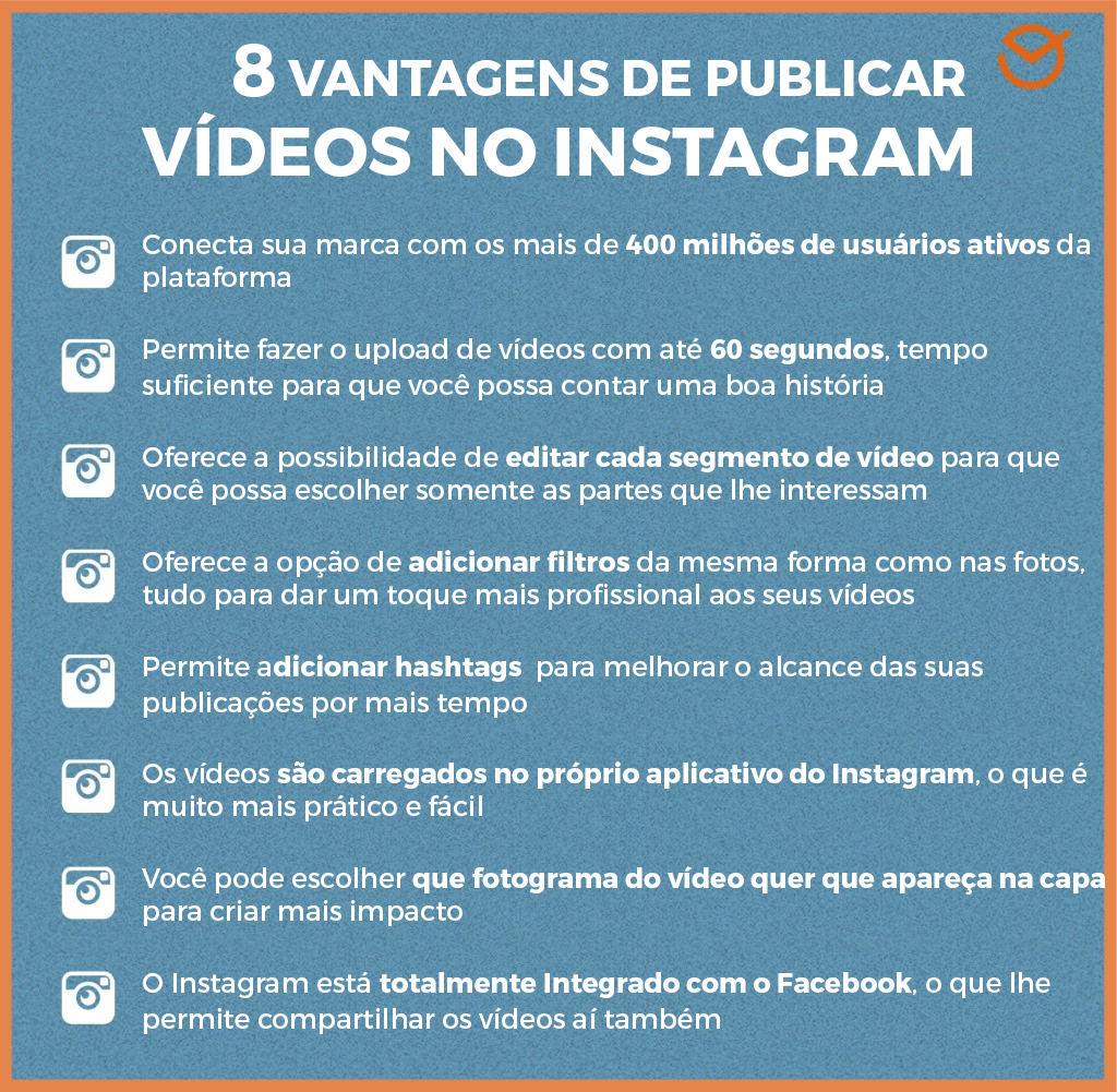 videos do instagram